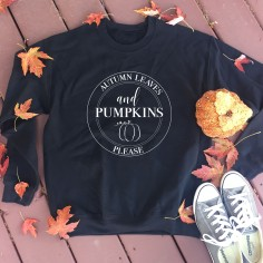 Autumn Leaves & Pumpkins Please from Callie's Closet Clothing Co.