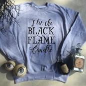 Callie's Closet Clothing Co. Black Flame Crew