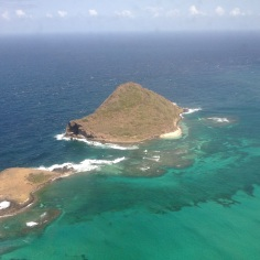 St. Lucia - from the plane - our Honeymoon Island