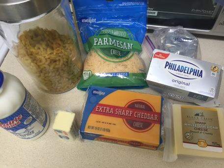 Homemade Mac & Cheese ingredients